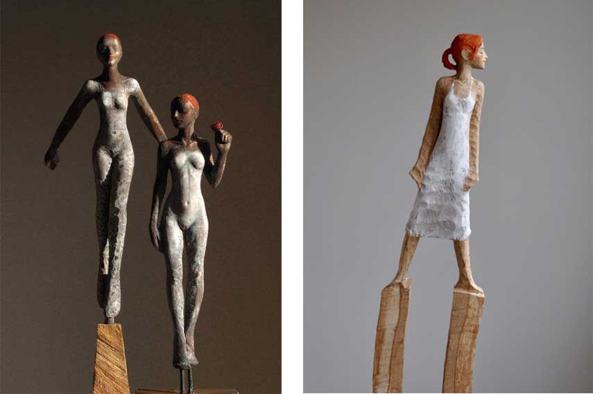 Michael Pickl - Flieg (Left) ; Windfrau, 2011 (Right)