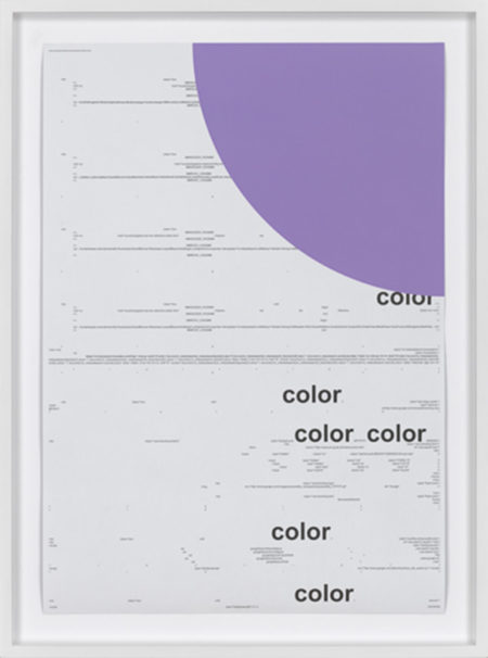Michael Riedel-Untitled (color) light purple-2013