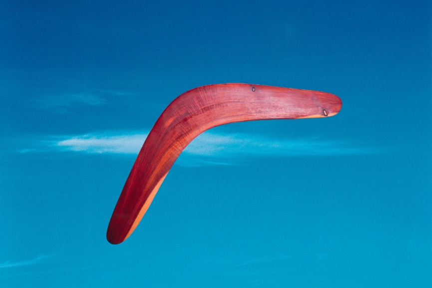 Michael Riley - Untitled, from the series Cloud [boomerang], 2000, printed 2005