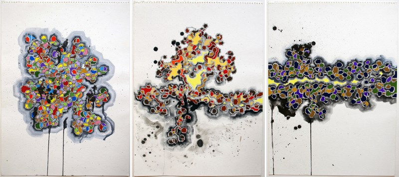 Michael Rodriguez - Untitled 12, 13 and 14 (respectively), 2013 - Courtesy of Vertical Gallery