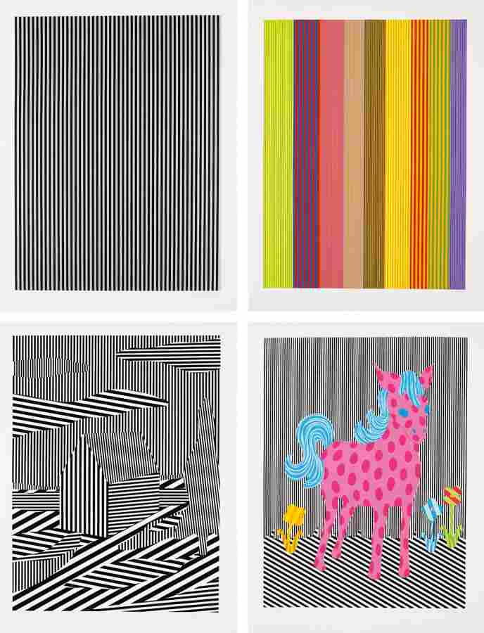 Michael Scott-Black/Silver Line; Color Line; House; and Pink Pony-1995