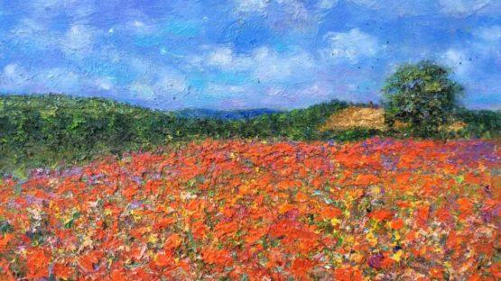 Michael Strang - Poppy Field Near Usk, Wales, 2008 (detail)