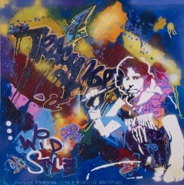 Michael Tracy-Self Portrait Stencil-1998