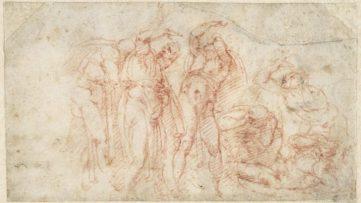 Michelangelo Buonarroti - Six figures in attitudes of fear and terror