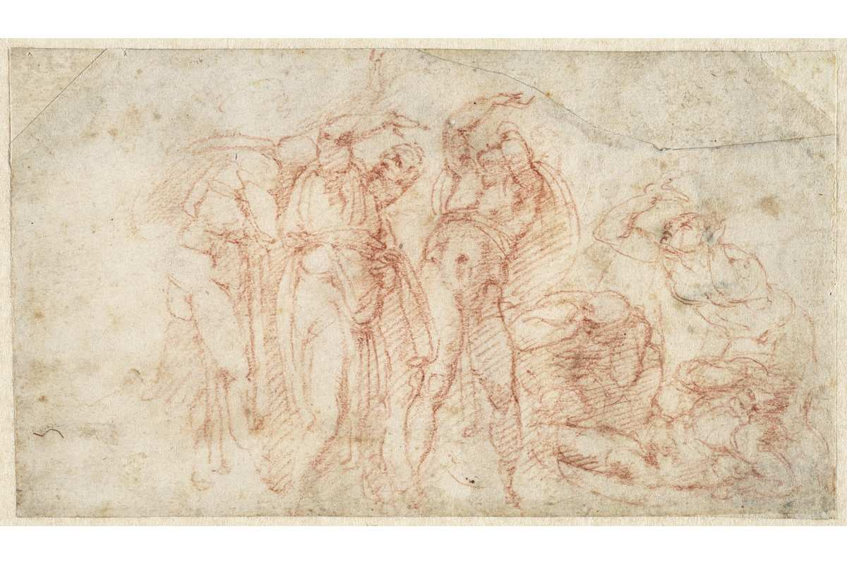 Michelangelo Buonarroti - Six figures in attitudes of fear and terror