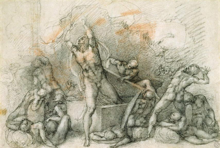 Michelangelo Buonarroti - The Resurrection, 1532. Image via static1.squarespece.com