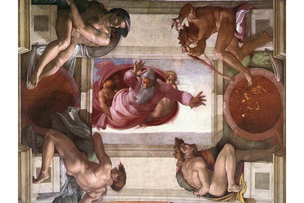 Michelangelo - Dividing water from Heaven