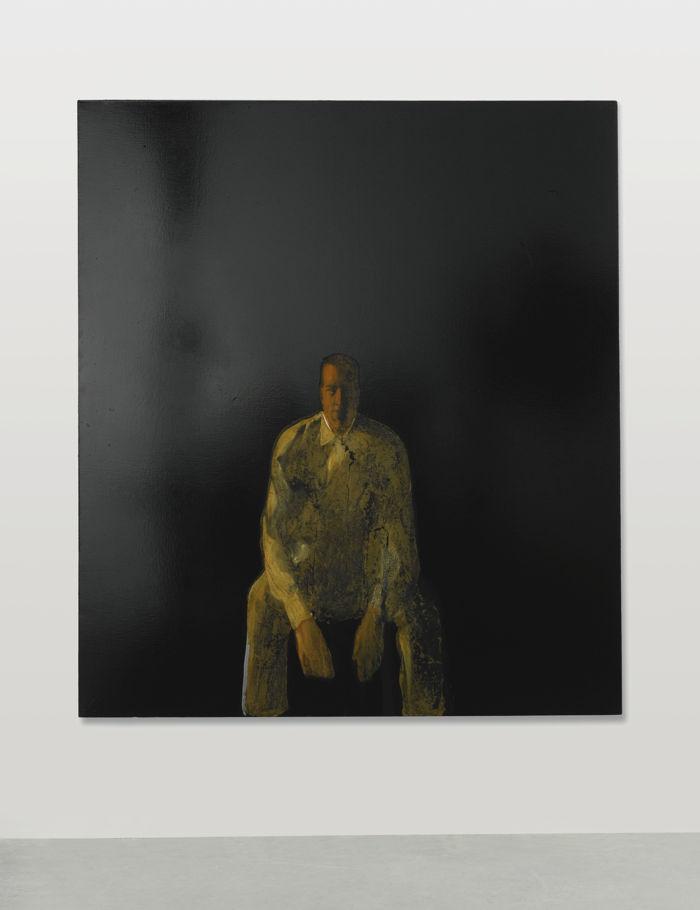 Michelangelo Pistoletto-Figura Su Sfondo Nero-1961