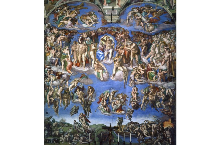Michelangelo Buonarroti - The Last Judgment, 1536–1541, a painting on the ceiling of the Sistine Chapel