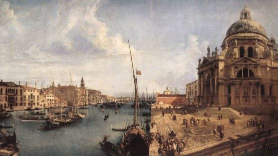 Michele Marieschi - The Entrance to the Grand Canal, looking East, with Santa Maria della Salute (detail)