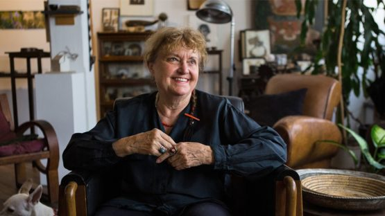 Michelle Stuart - photo by Ruth Fremson, NY Times