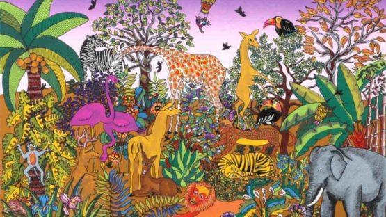Miguel Garcia Ceballos - Jungle Scene with Animals, 1983 (detail)