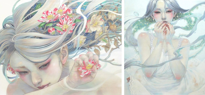 Miho Hirano - F6 Canvas, 2015 (Left) / F10 Canvas, 2015 (Right) posts france design japanese new work contact