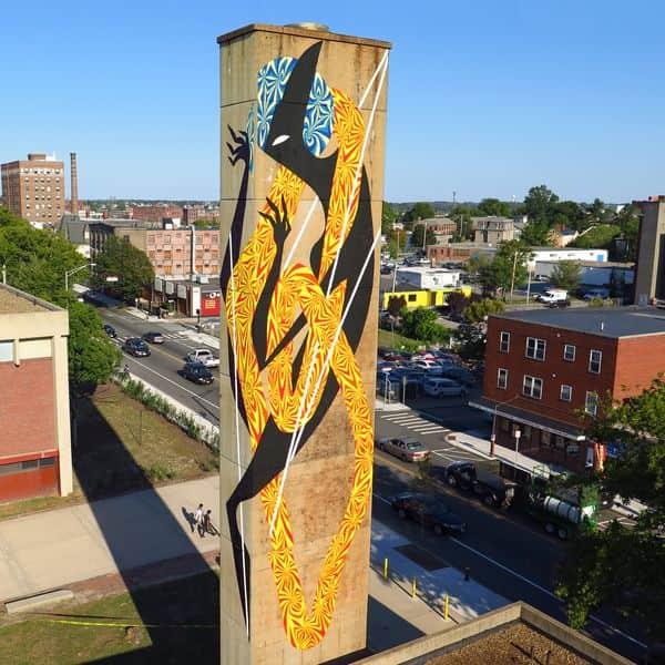 Mik Shida Mural in Providence