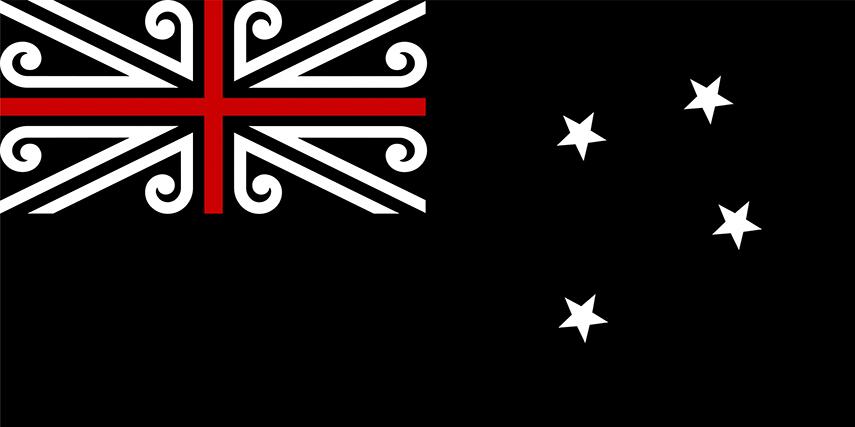 New Design for New Zealand Flag red southern cross 2015 twitter facebook