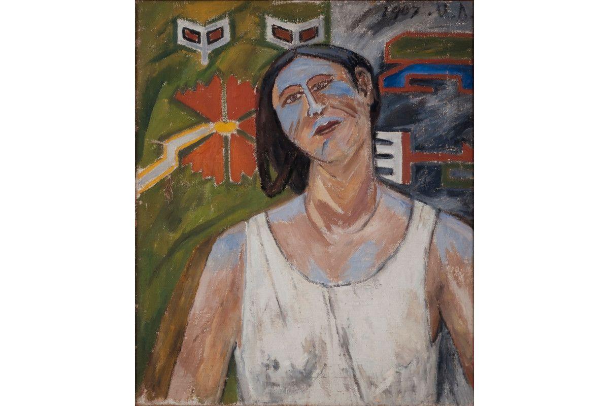 Mikhail F. Larionov - Portrait of Nathalie Gontcharova