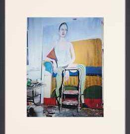 Miles Aldridge-Kristen, painting by Chantal Joffe, from Kristen at the Studio of Chantal Joffe-2010
