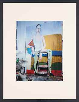 Miles Aldridge-Kristen, painting by Chantal Joffe, from Kristen at the Studio of Chantal Joffe-2010