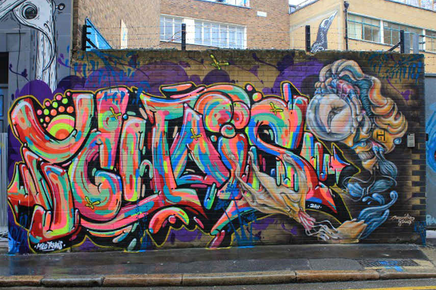 Milo Tchais - Street Art in London - Image via Streetartlondon co uk