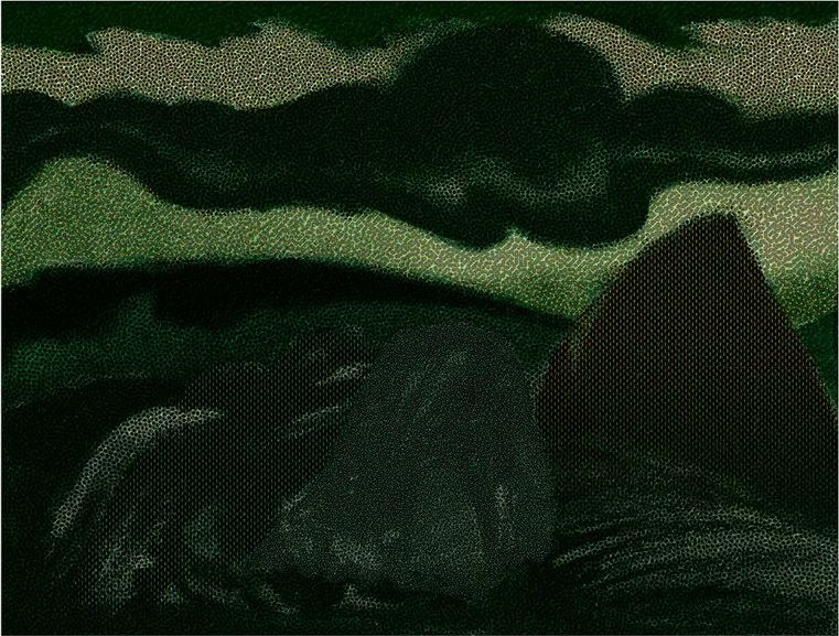 Milton Glaser - Black and Green Dawn