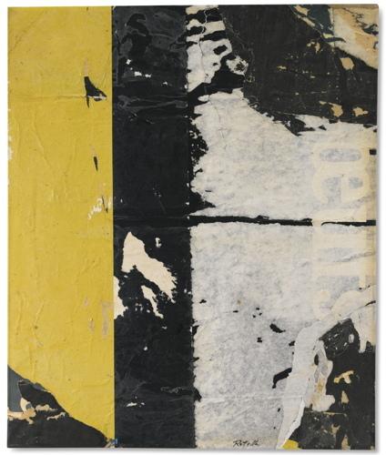 Mimmo Rotella-Verticale Nero-1960