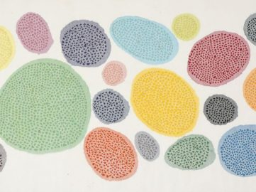 Minjung Kim, Alveare, 2014, mixed media on mulberry Hanji paper, 76 x 139.5 cm, courtesy of the artist and Gallery Hyundai, Seoul