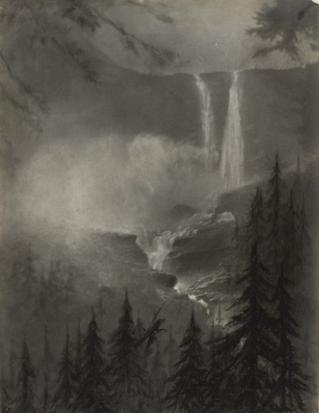 Minna Keene - Rockies Waterfall, circa 1915
