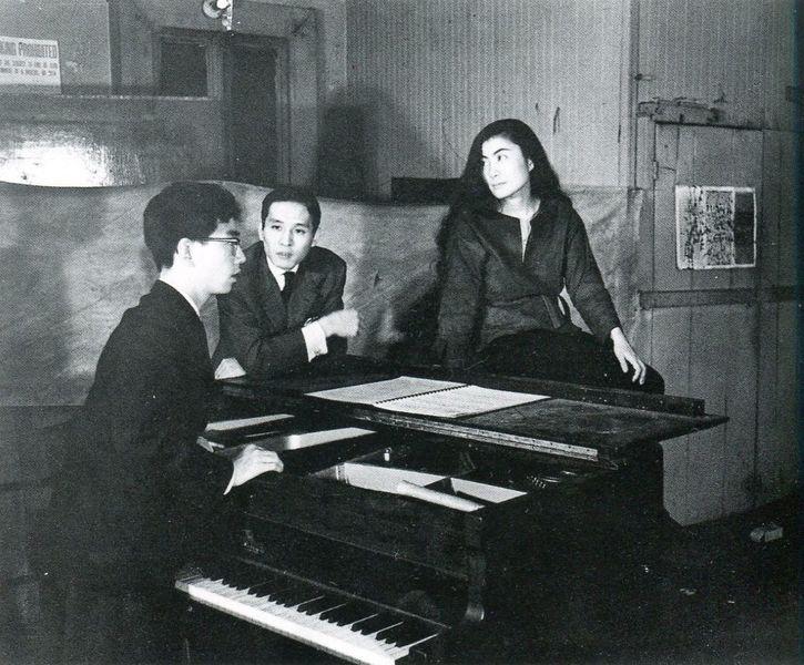 Minoru Niizuma - Yoko Ono and others at the Chambers Street loft, 1962