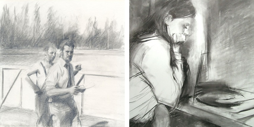 Miquel Wert - Two Men, 2008 (Left) / Gunnel, 2004 (Right)