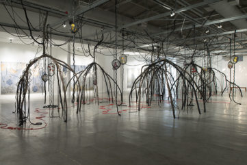 Trace the Red Thread and See Where it Leads - Mira Lehr at MOCA North Miami