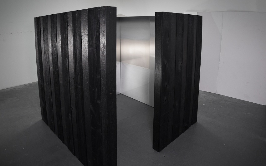 Miya Ando - Emptiness the Sky (Shou Sugi Ban) for Frontiers Reimagined Venice Biennale, 2015 grid press