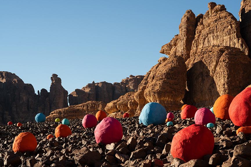 Mohammed Ahmed Ibrahim - Falling Stones Garden, Desert X AlUla 2020 in Saudi Arabia
