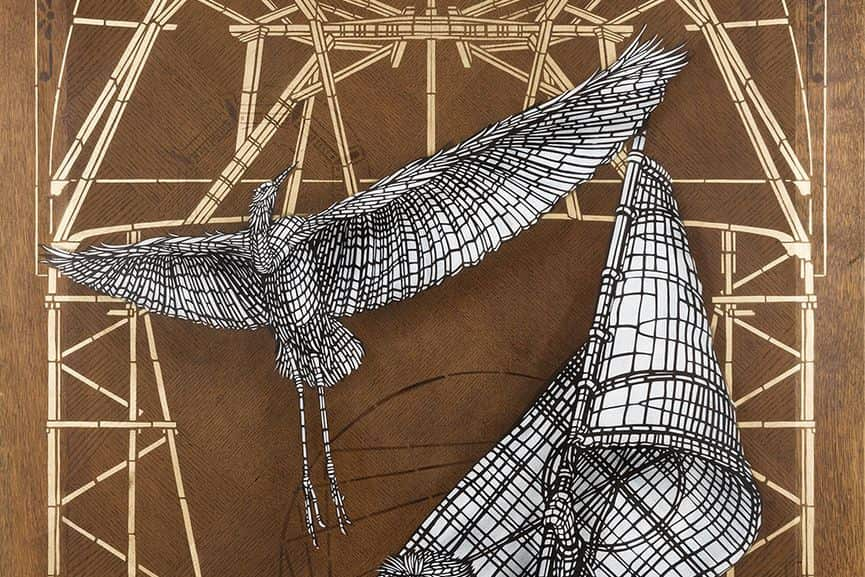 Monkeybird - Le Phoenix (detail), 2017