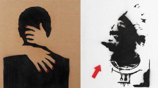 Monsieur B - Woman Behind (2014) and Untitled