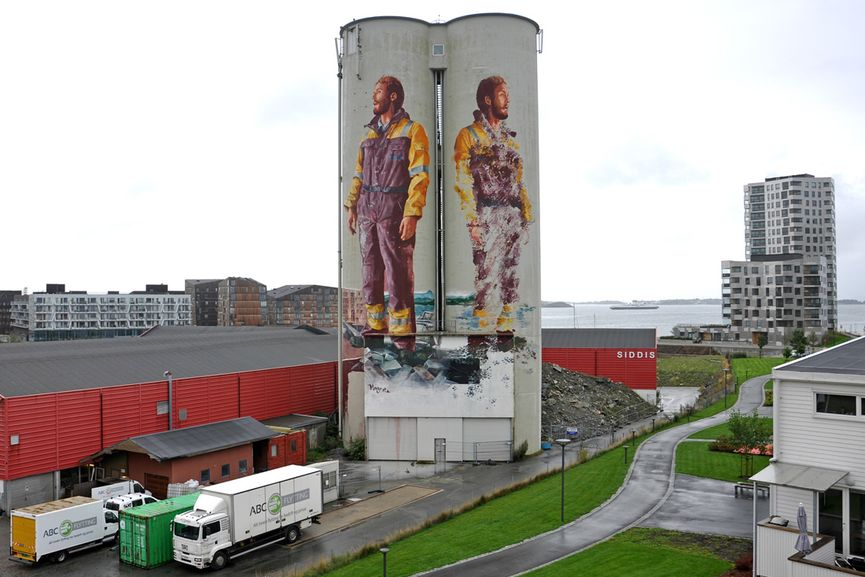 Monument to a Disappearing Monument by Fintan Magee for NuArt Stavanger