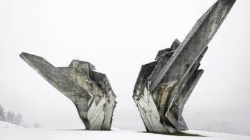 Monument to the Battle of the Sutjeska, 1965-71 on view at Toward a Concrete Utopia