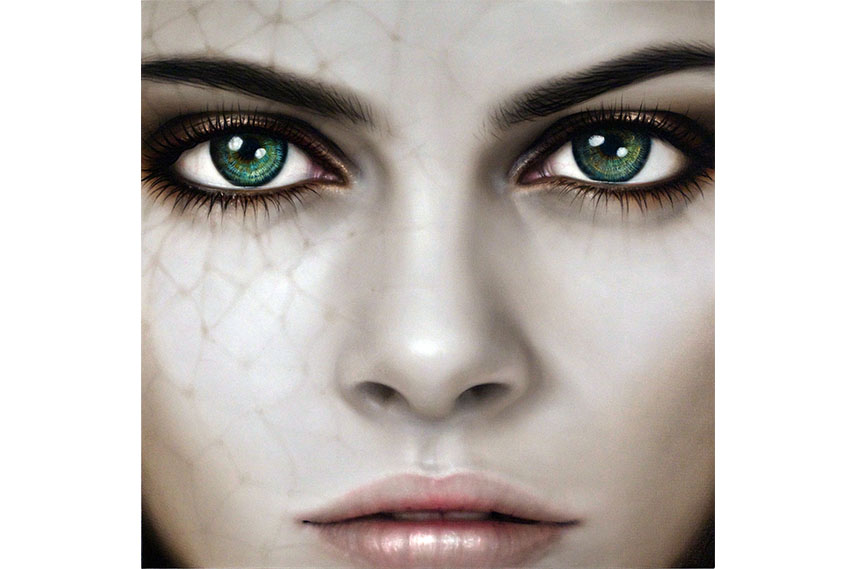 Moonage Daydream, oil on canvas, machiko edmondson unix gallery new york exhibition