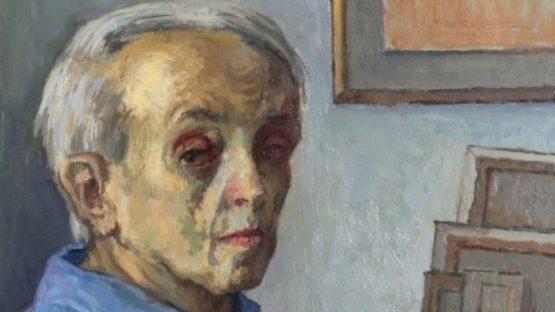 Moses Soyer - Self-Portrait in Studio, ca 1960 (detail)