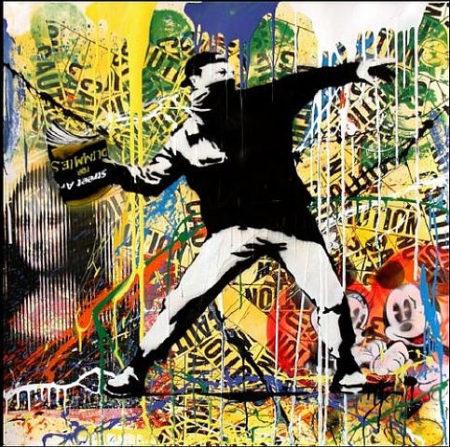 Mr. Brainwash-Banksy Thrower-2013