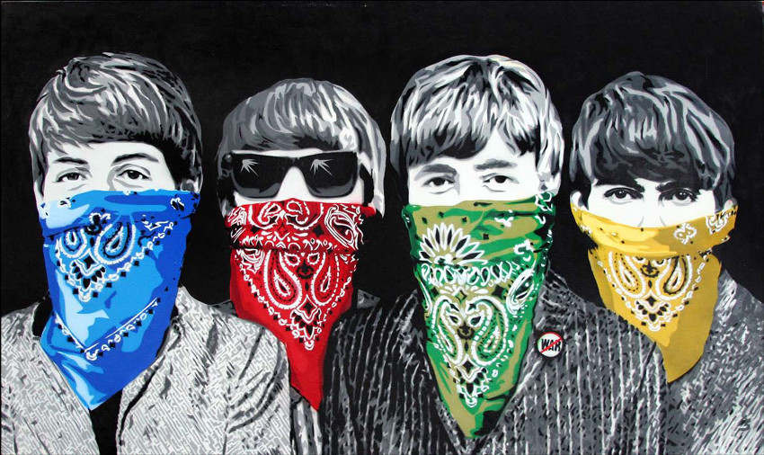 Mr. Brainwash - Beatles Bandidos (black)
