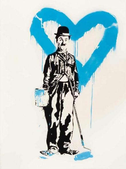 Mr. Brainwash-Chaplin, Love (Blue Edition)-2010
