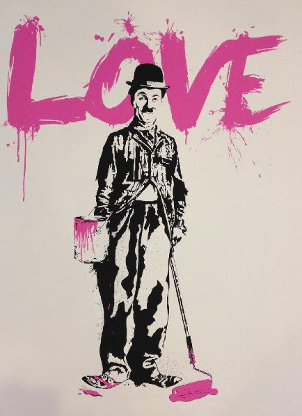 Mr. Brainwash-Charlie Chaplin, Love-2010