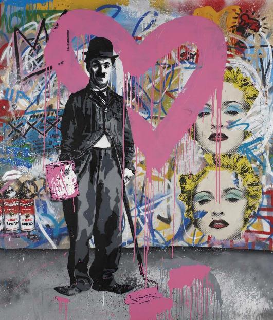 Mr. Brainwash-Charlie Chaplin Pink-