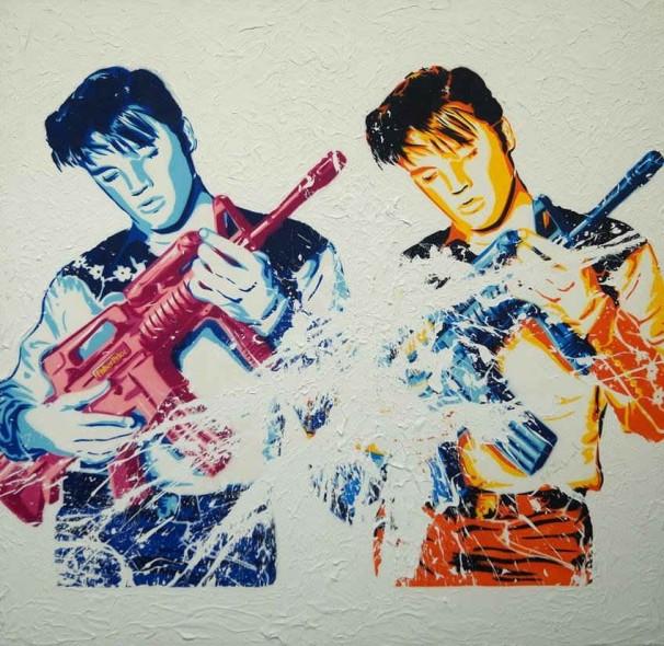 Mr. Brainwash-Don't be Cruel (Double Elvis)-