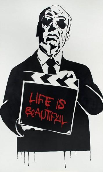 Mr. Brainwash-Life Is Beautiful, Alfred Hitchcock-2008