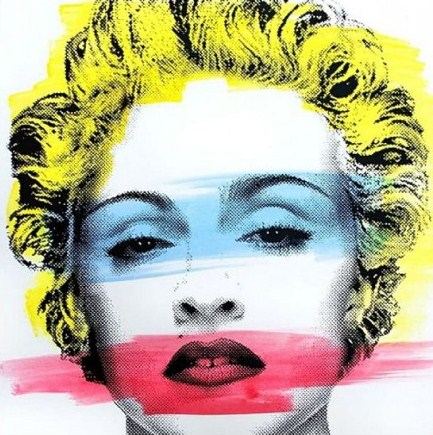 Mr. Brainwash-Madonna Original White-2013