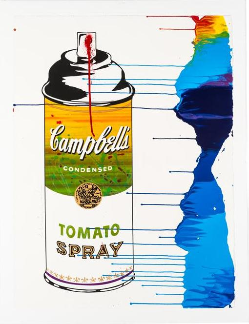 Mr. Brainwash-Untitled (Campbell Tomato Soup Spray)-2009