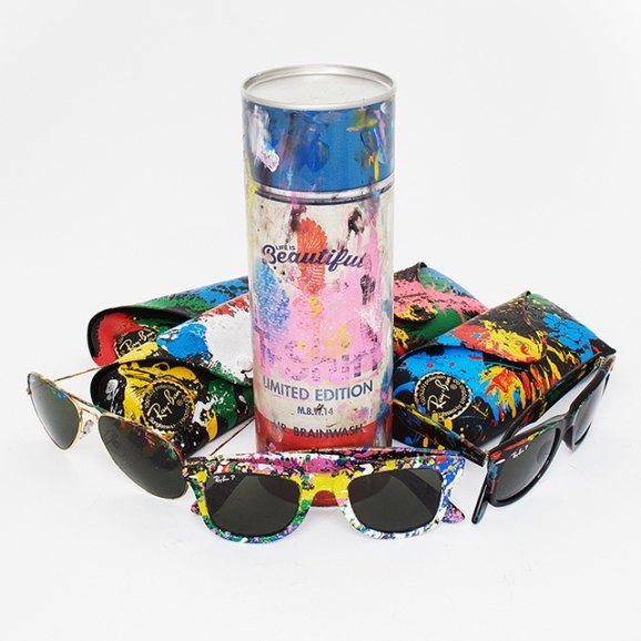 fashion Ray Bans Sunglass Hut Launches Mr. Brainwash Collection