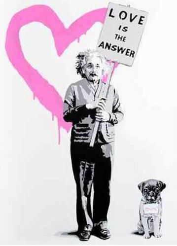 Mr. Brainwash-E=MC2 Love is the answer Pink-2012