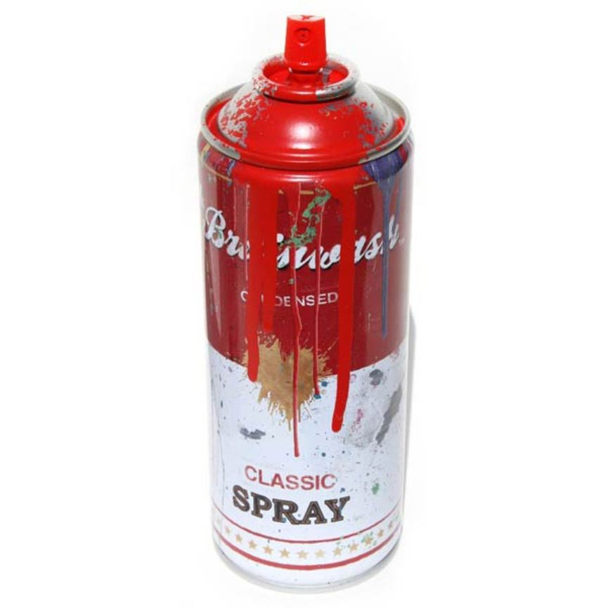Red Mr. Brainwash spraycan